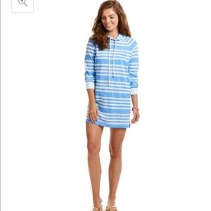 Vineyard Vines Long Sleeve Stripe Hoodie Cover Up